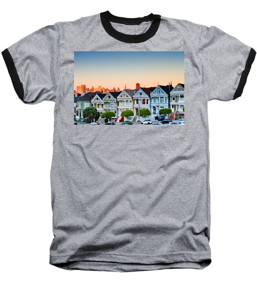 Painted Ladies Baseball T-Shirt by Bill Gallagher