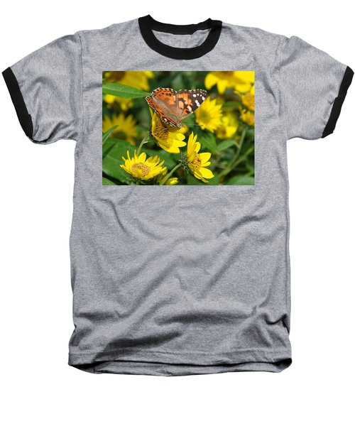 Baseball T-Shirt featuring the photograph Painted Lady by James Peterson