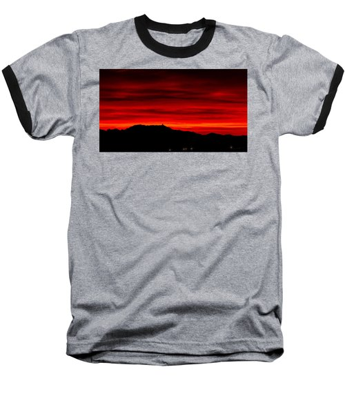Baseball T-Shirt featuring the photograph Painted Sky 36 by Mark Myhaver