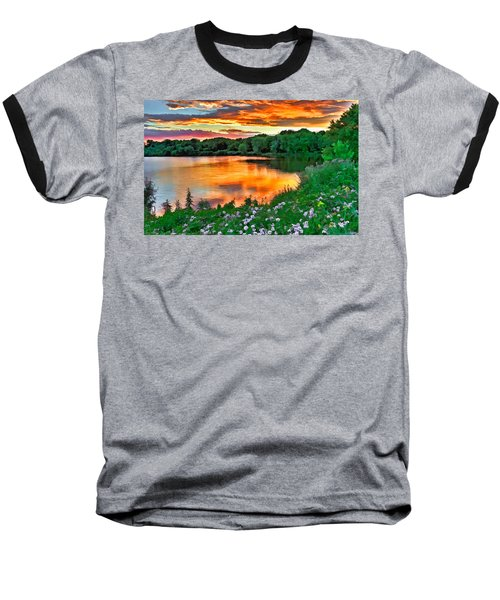 Painted Sunset Baseball T-Shirt