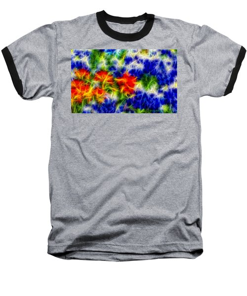 Painted Wildflowers Baseball T-Shirt