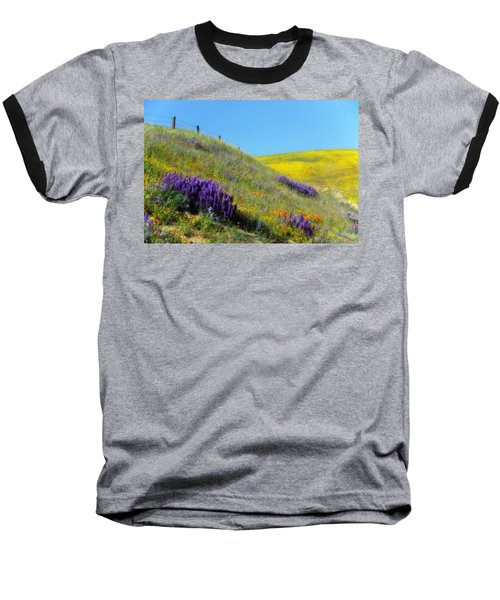 Painted With Wildflowers Baseball T-Shirt by Lynn Bauer