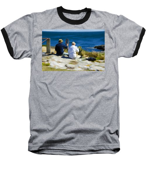 Painting The View Baseball T-Shirt