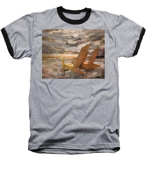 Pairs Along The Coast Baseball T-Shirt by Betsy Knapp