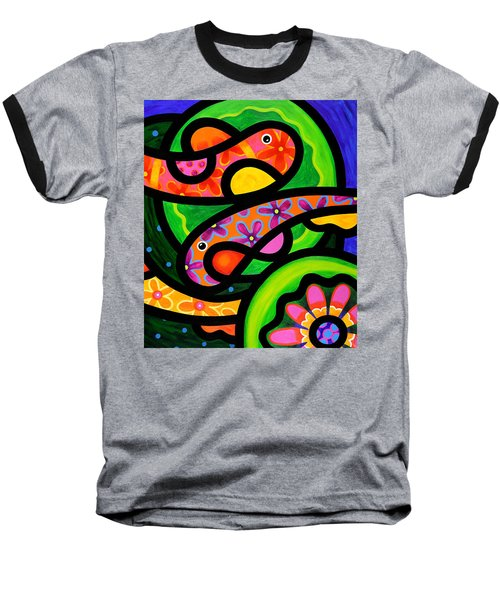 Paisley Pond - Horizontal Baseball T-Shirt