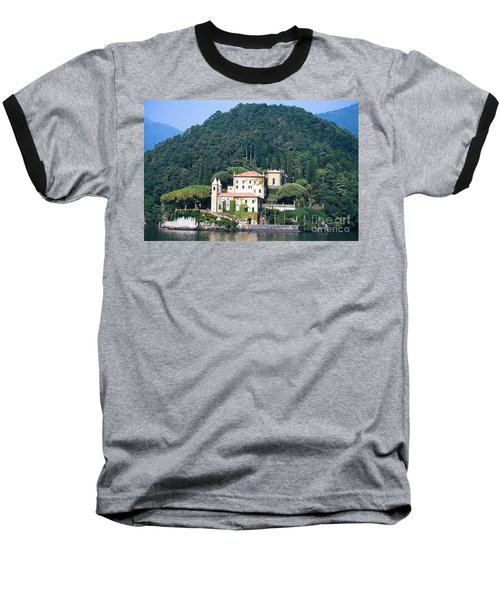 Baseball T-Shirt featuring the photograph Palace At Lake Como Italy by Greta Corens