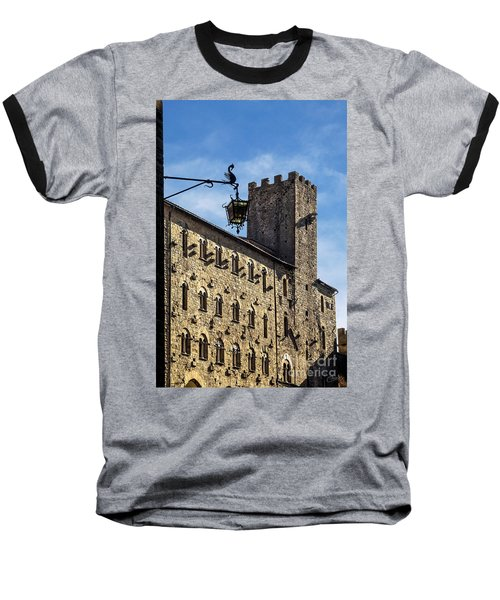 Palazzo Pretorio And The Tower Of Little Pig Baseball T-Shirt