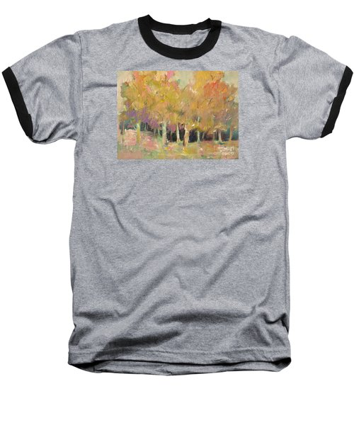Pale Forest Baseball T-Shirt by Michelle Abrams