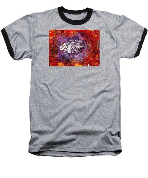 Paleo Fish Baseball T-Shirt
