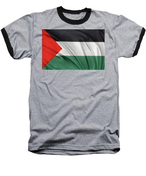 Palestine Flag Baseball T-Shirt by Les Cunliffe