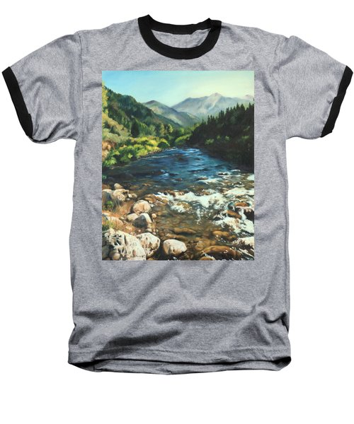 Palisades Creek  Baseball T-Shirt by Lori Brackett