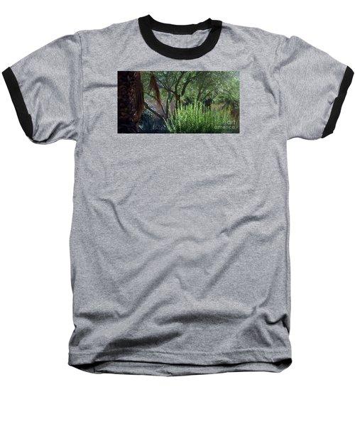 Palm Desert Museum Of Art Baseball T-Shirt by Sherri's Of Palm Springs