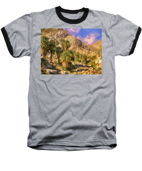 Palm Oasis In Late Afternoon Baseball T-Shirt