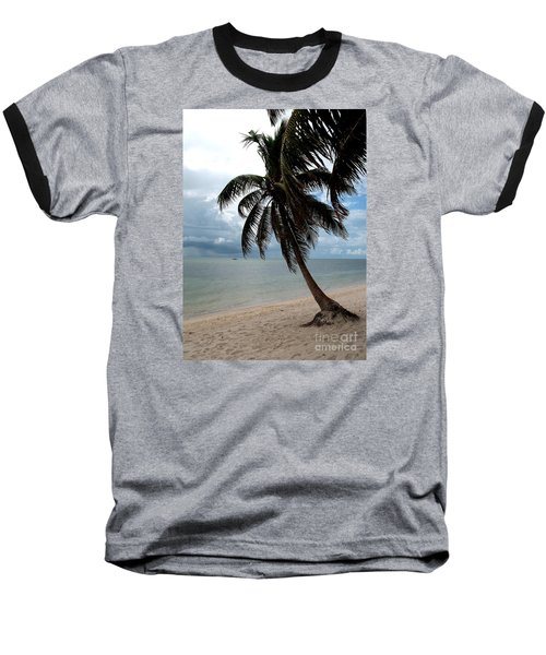 Palm On The Beach Baseball T-Shirt by Christiane Schulze Art And Photography