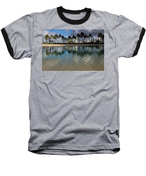 Palm Trees Crystal Clear Lagoon Water And Tropical Fish Baseball T-Shirt