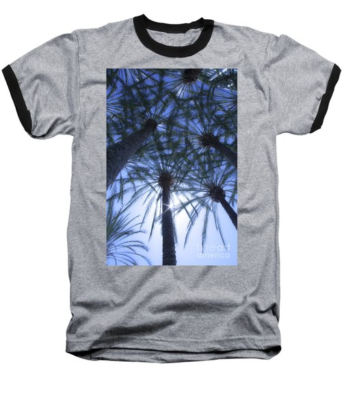 Baseball T-Shirt featuring the photograph Palm Trees In The Sun by Jerry Cowart