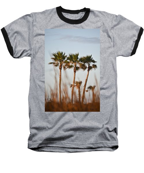 Palm Trees Through Tall Grass Baseball T-Shirt