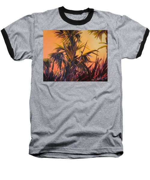 Palmettos At Dusk Baseball T-Shirt