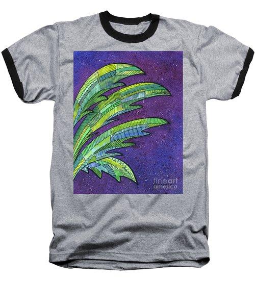 Palms Against The Night Sky Baseball T-Shirt