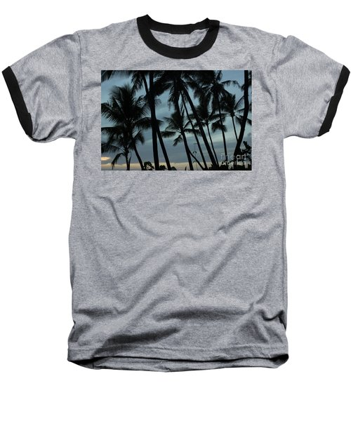 Baseball T-Shirt featuring the photograph Palms At Dusk by Suzanne Luft
