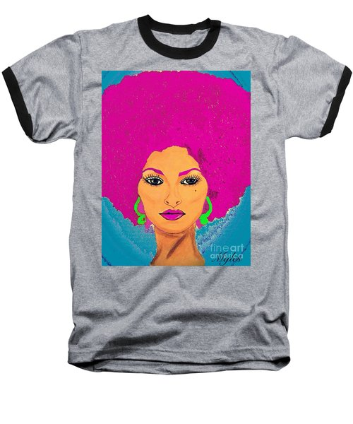 Pam Grier Bold Diva C1979 Pop Art Baseball T-Shirt