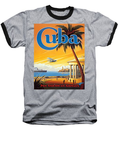Pan Am Cuba  Baseball T-Shirt