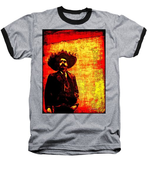 Pancho Villa Baseball T-Shirt by Joan  Minchak
