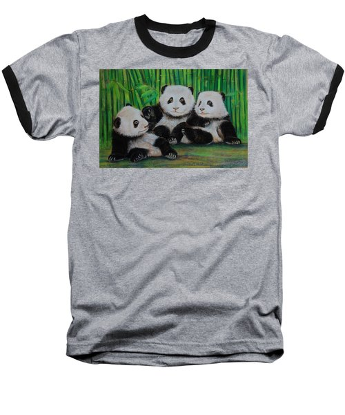 Panda Cubs Baseball T-Shirt by Jean Cormier