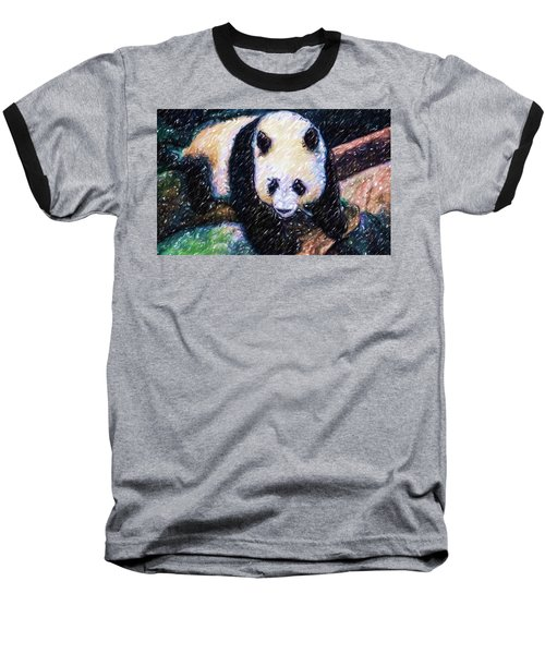 Panda In The Rest Baseball T-Shirt by Lanjee Chee