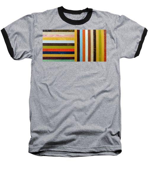 Panel Abstract L Baseball T-Shirt