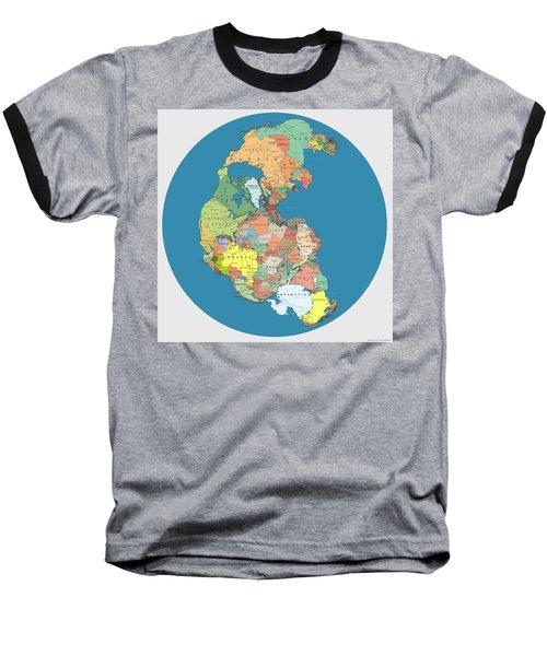 Pangaea Politica By Massimo Pietrobon Baseball T-Shirt