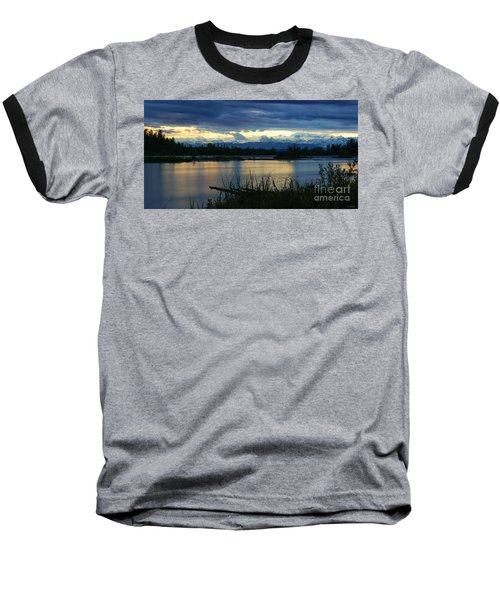 Pano Denali Midnight Sunset Baseball T-Shirt
