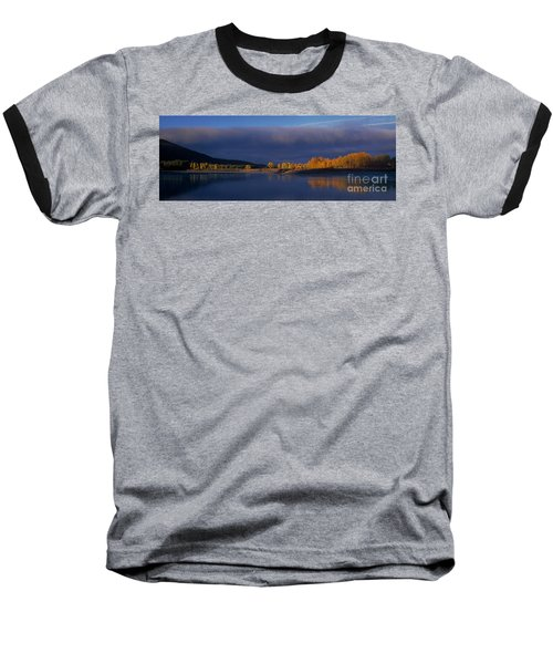 Baseball T-Shirt featuring the photograph Panorama Clearing Storm Oxbow Bend Grand Tetons National Park Wyoming by Dave Welling