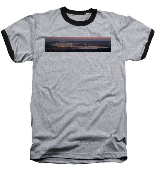 Baseball T-Shirt featuring the photograph Panorama Of Ferrol From Mount Marraxon Galicia Spain by Pablo Avanzini