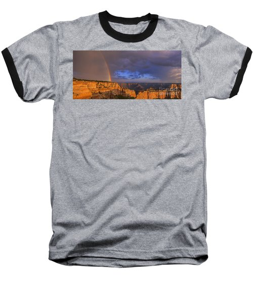 Baseball T-Shirt featuring the photograph Panorama Rainbow Over Cape Royal North Rim Grand Canyon National Park by Dave Welling