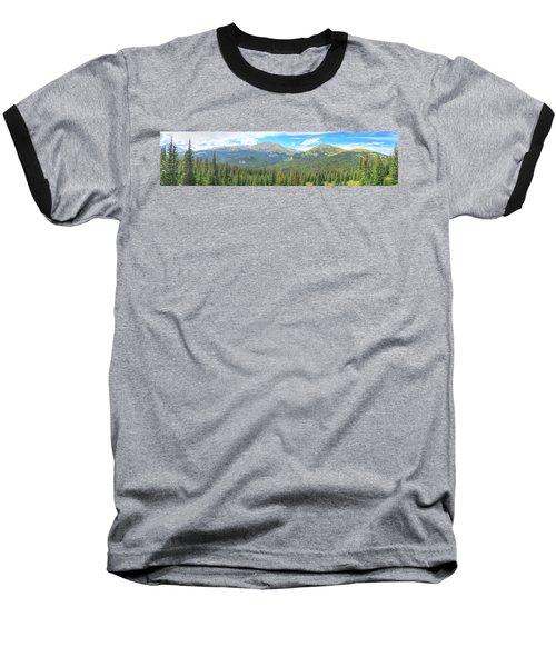 Panoramic Boreas Pass Baseball T-Shirt by Lanita Williams
