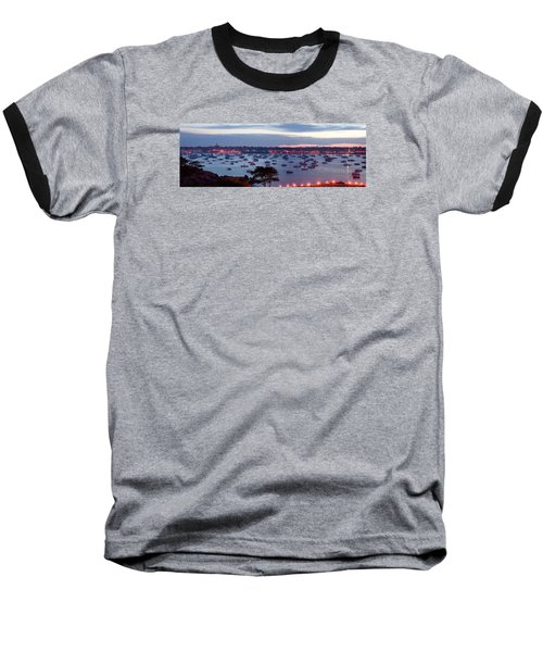 Panoramic Of The Marblehead Illumination Baseball T-Shirt by Jeff Folger