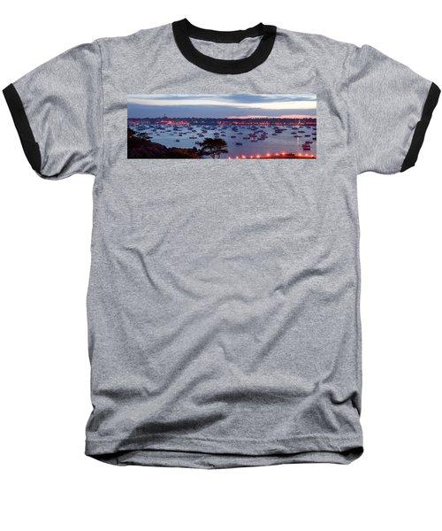 Panoramic Of The Marblehead Illumination Baseball T-Shirt