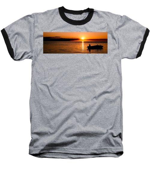 Panoramic Photo Of Sunrise At Monkey Mia Of Australia Baseball T-Shirt