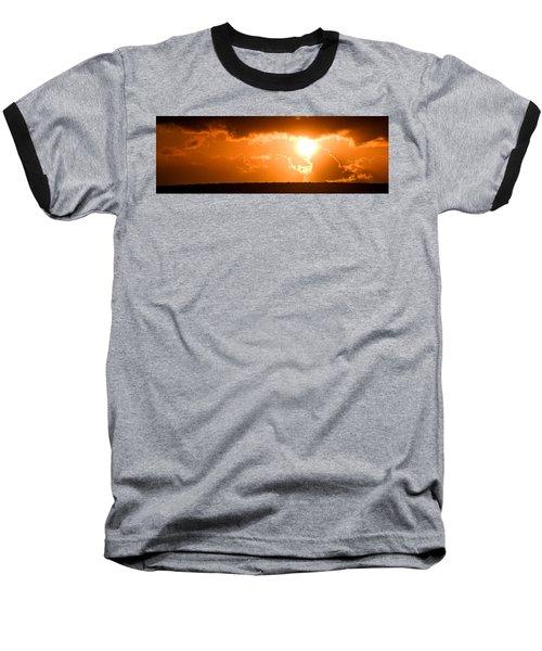 Panoramic Photo Of Sunset At Monkey Mia  Baseball T-Shirt