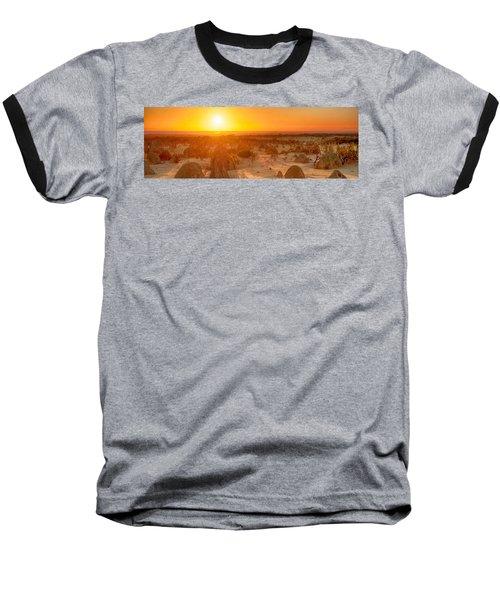 Panoramic Photo Of Sunset At The Pinnacles Baseball T-Shirt
