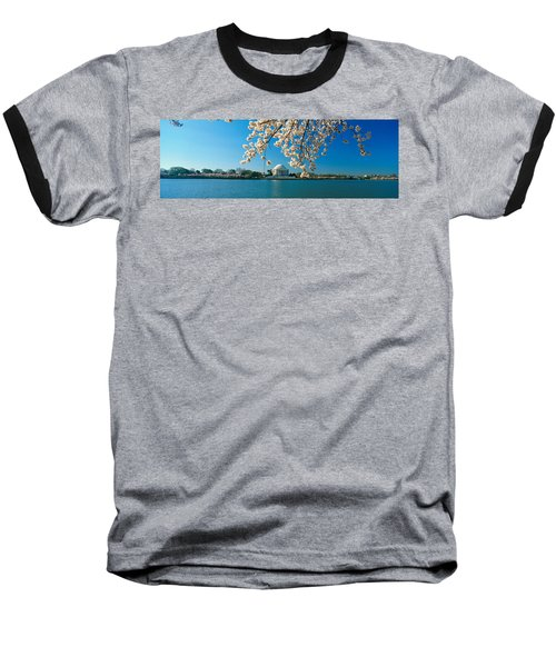 Panoramic View Of Jefferson Memorial Baseball T-Shirt by Panoramic Images