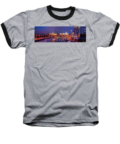 Panoramic View Of Moscow River And Moscow Kremlin  - Featured 3 Baseball T-Shirt