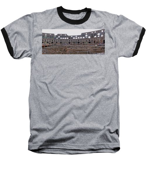 Panoramic View Of The Colosseum Baseball T-Shirt