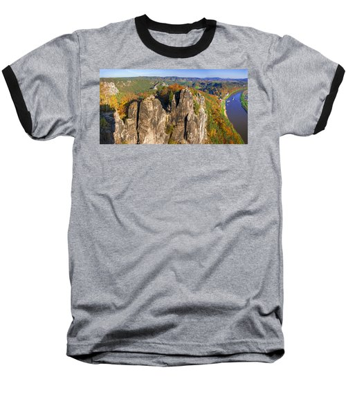 Panoramic Views Of Neurathen Castle Baseball T-Shirt