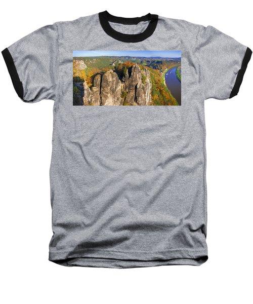 Panoramic Views Of Neurathen Castle Baseball T-Shirt