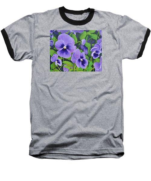 Pansies Schmanzies Baseball T-Shirt