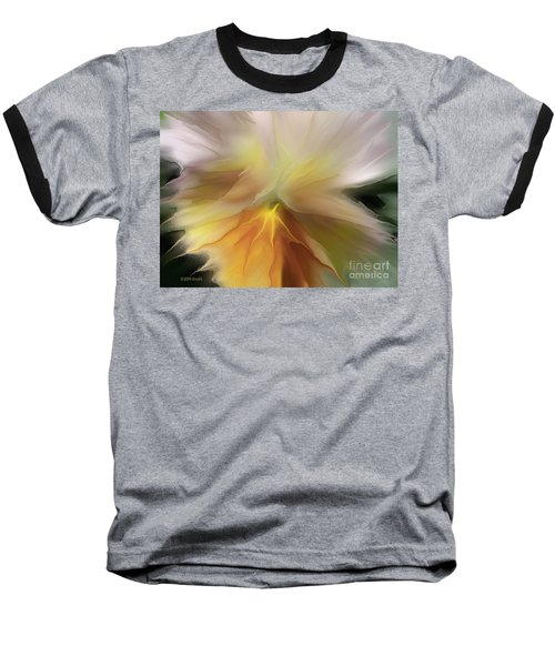 Pansy Art Baseball T-Shirt