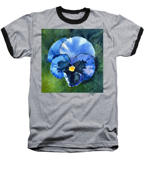 Pansy Blue Baseball T-Shirt