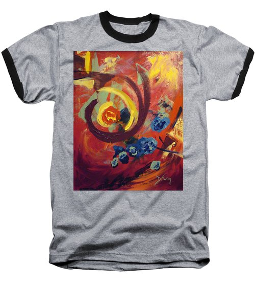 Baseball T-Shirt featuring the painting Pansymania by Donna Tuten
